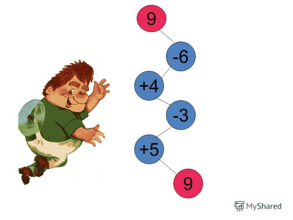9 -6 +4 -3 +5 9