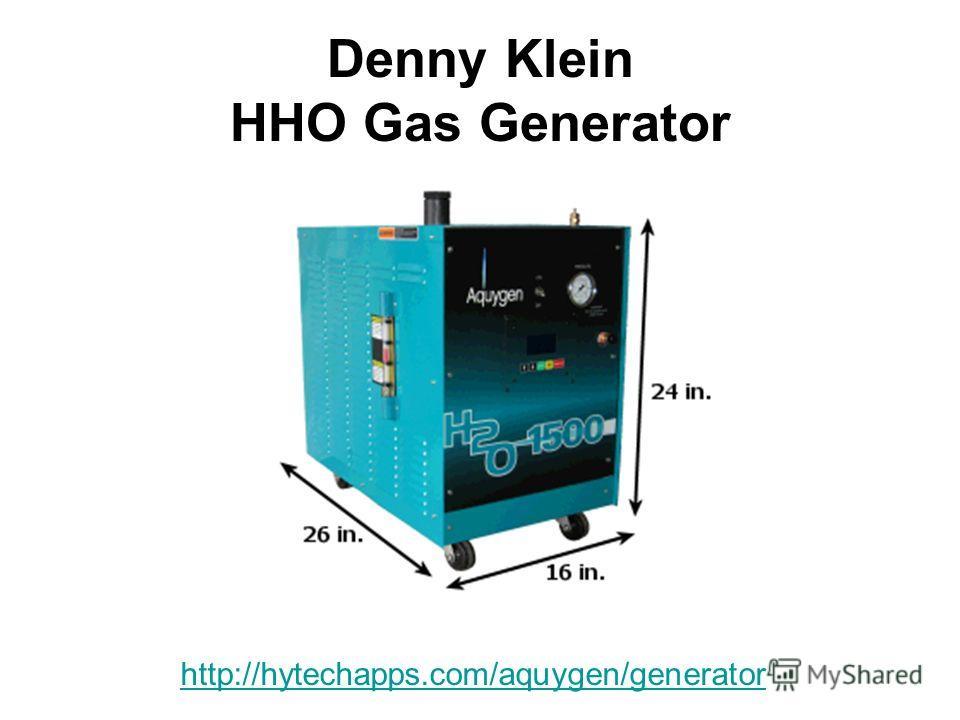 Denny Klein HHO Gas Generator http://hytechapps.com/aquygen/generator