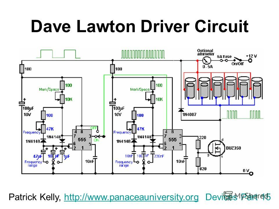 Dave Lawton Driver Circuit Patrick Kelly, http://www.panaceauniversity.org Devices Part 15http://www.panaceauniversity.org