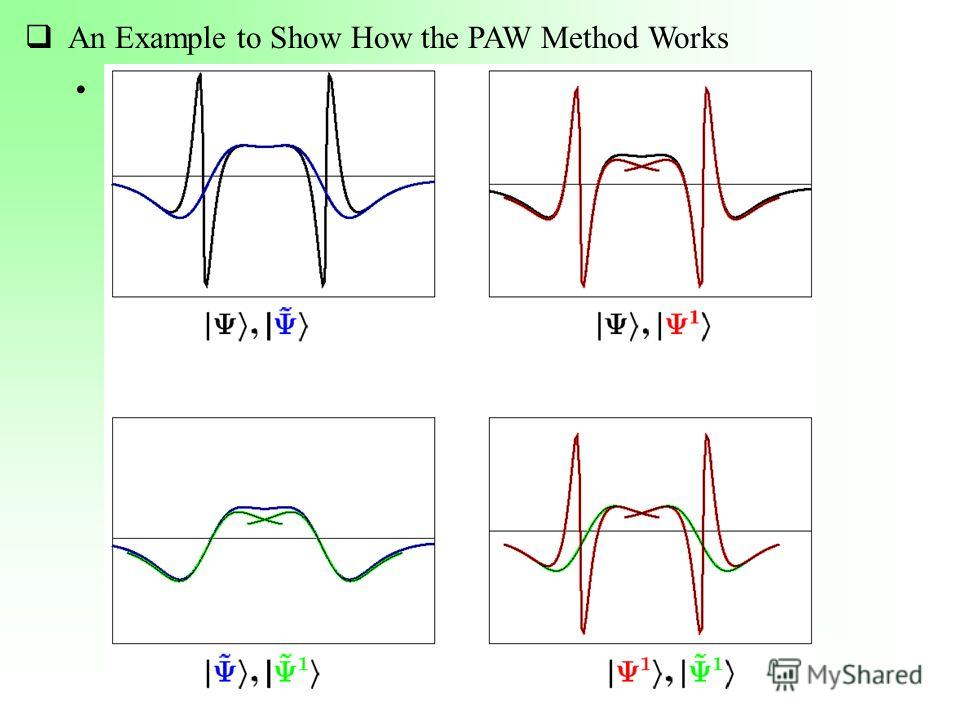 An Example to Show How the PAW Method Works