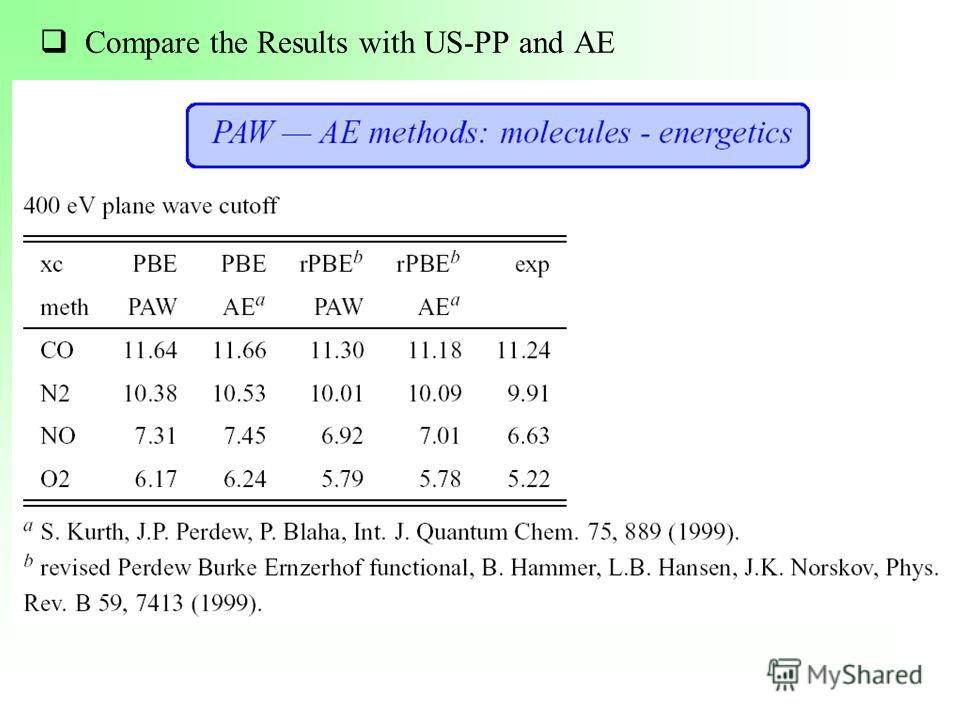 Compare the Results with US-PP and AE