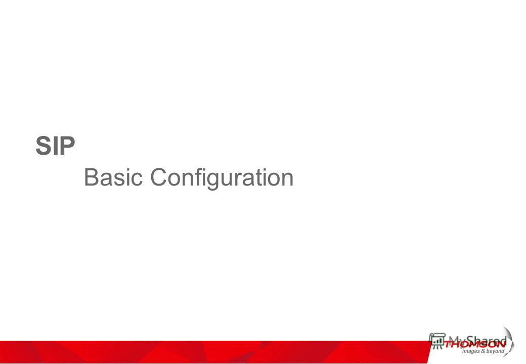 SIP Basic Configuration