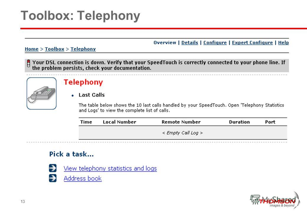 13 Toolbox: Telephony