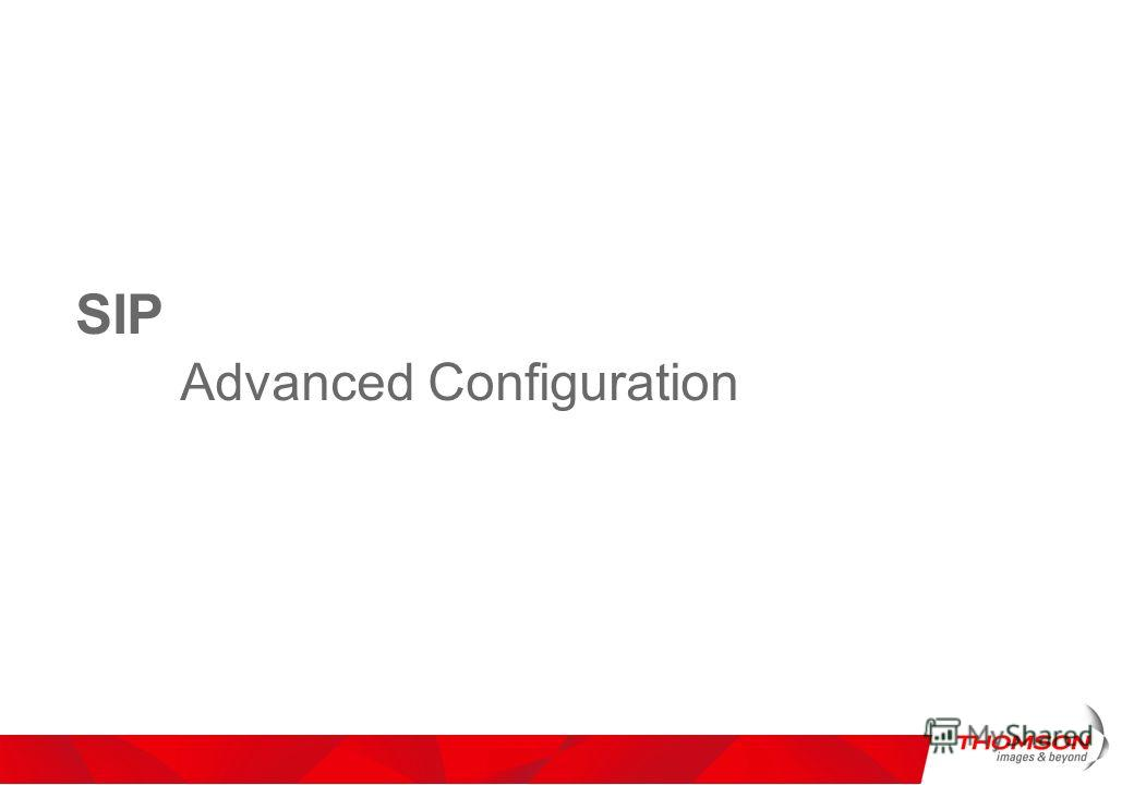 SIP Advanced Configuration