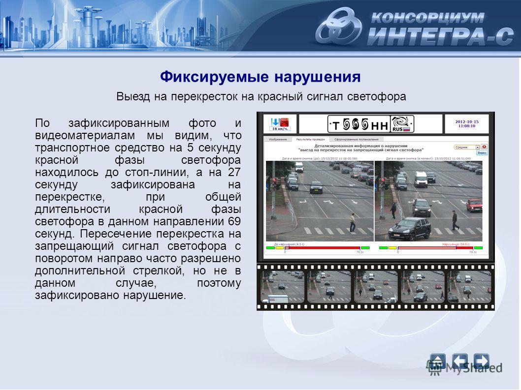 По зафиксированным фото и видеоматериалам мы видим, что транспортное средство на 5 секунду красной фазы светофора находилось до стоп-линии, а на 27 секунду зафиксирована на перекрестке, при общей длительности красной фазы светофора в данном направлен
