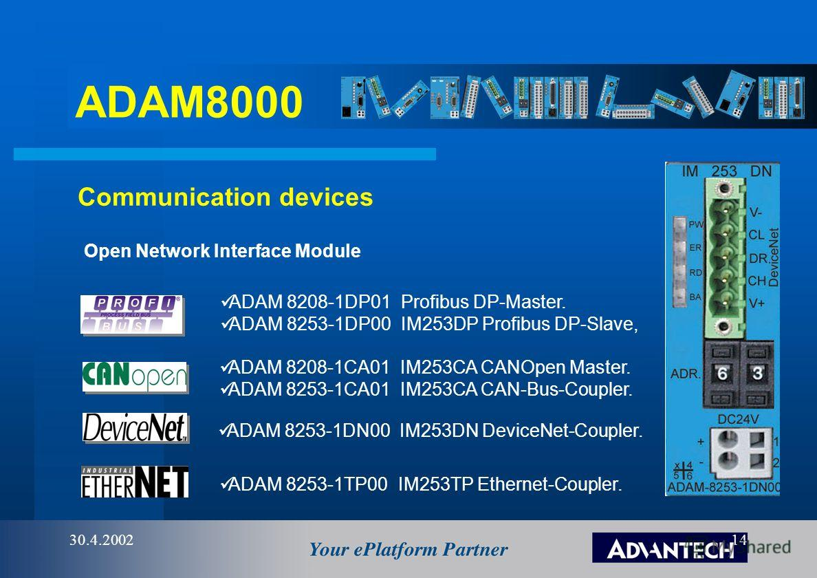 ADAM8000 30.4.200213 eAutomation system solutions HMI Thin Client eAutomation Network & Control Bits for YOUR benefit WAN / LAN PS207IM253DP 03 SM222 SM231SM232SM221 PS207IM253DP 03 SM222 SM231SM232SM221 PS207IM253DP 03 SM222 SM231SM232SM221 PS207CPU