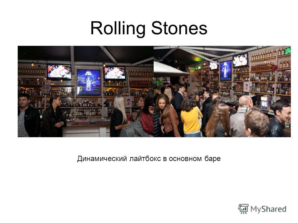 Rolling Stones Динамический лайтбокс в основном баре