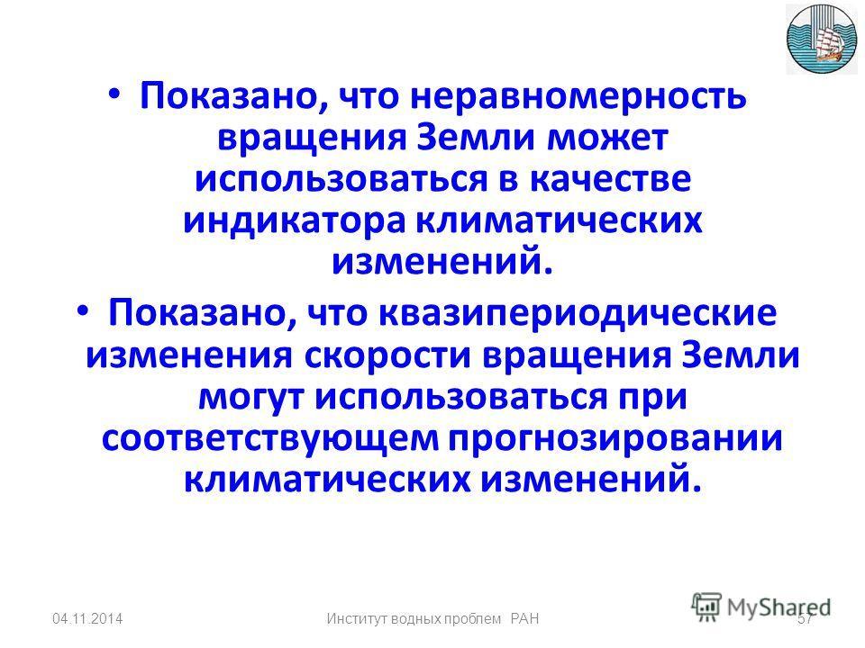 Альбедо поверхности в Арктике 04.11.201456Институт водных проблем РАН