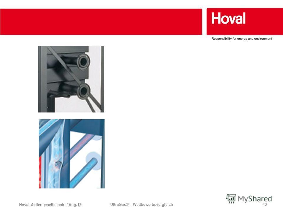 Hoval Aktiengesellschaft / Aug-13 UltraGas® - Wettbewerbsvergleich40