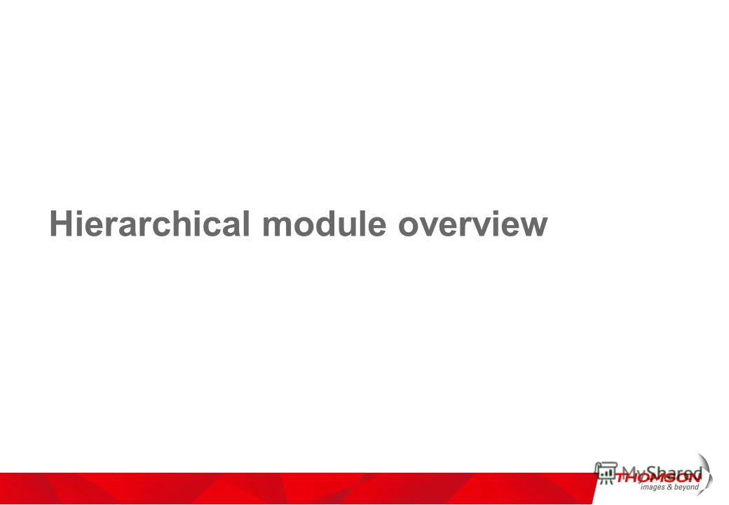 Hierarchical module overview