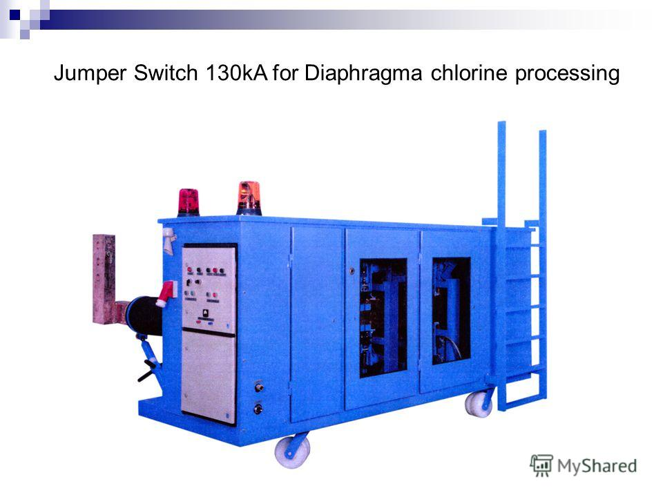Jumper Switch 130kA for Diaphragma chlorine processing