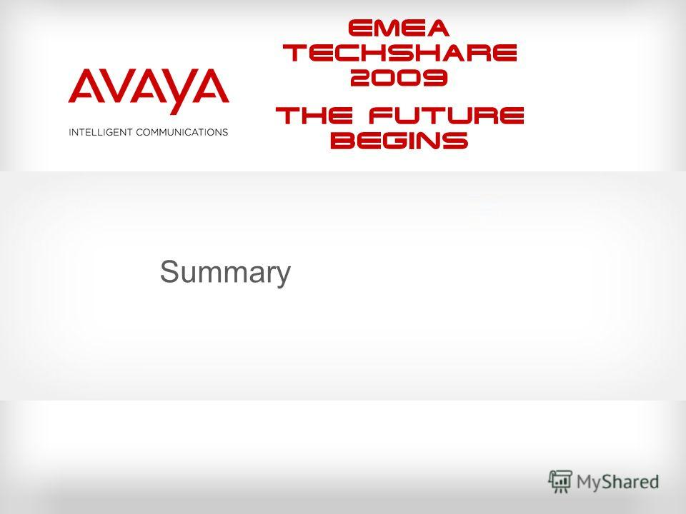 EMEA Techshare 2009 The Future Begins Summary