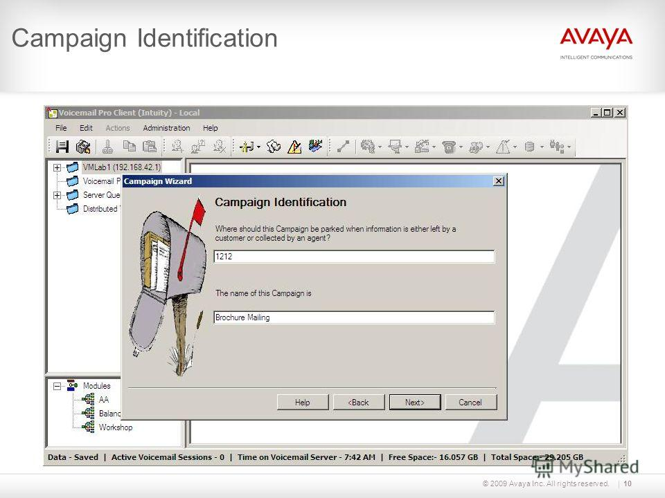 © 2009 Avaya Inc. All rights reserved.10 Campaign Identification