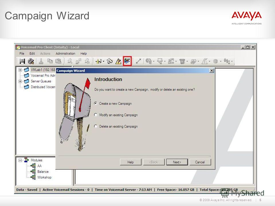 © 2009 Avaya Inc. All rights reserved.5 Campaign Wizard