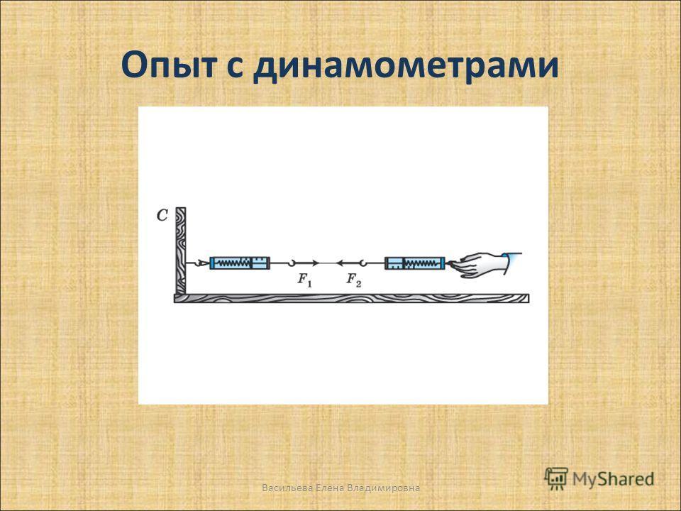 Опыт с динамометрами Васильева Елена Владимировна