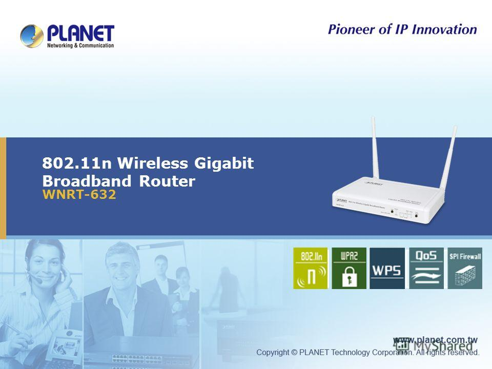 802.11n Wireless Gigabit Broadband Router WNRT-632 Icon5Icon4Icon3Icon2Icon1