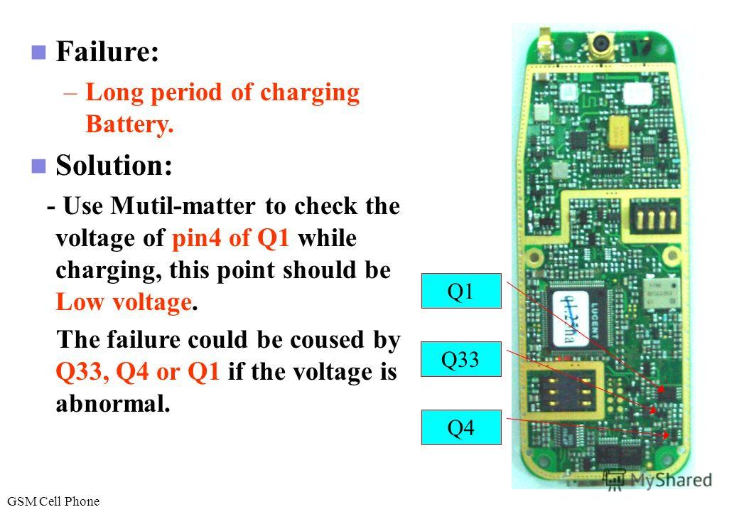 Failure: –Cant charger battery –Charge connector damage. Solution: -Replace connector J5. -Control the temperature and air flow carfully. J5