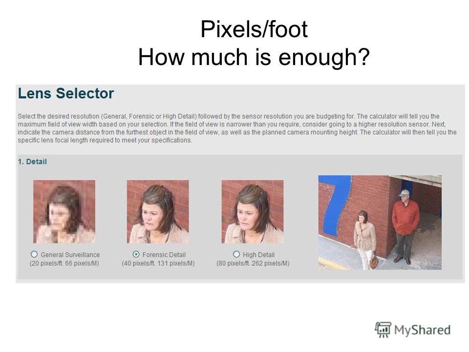 Pixels/foot How much is enough?