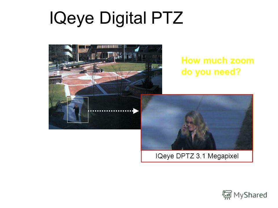 Digital zoom @ cifDigital zoom @ d1 IQeye Digital PTZ IQeye Zoom @ hdtvIQeye Zoom @ 2 MegapixelIQeye DPTZ 3.1 Megapixel How much zoom do you need?