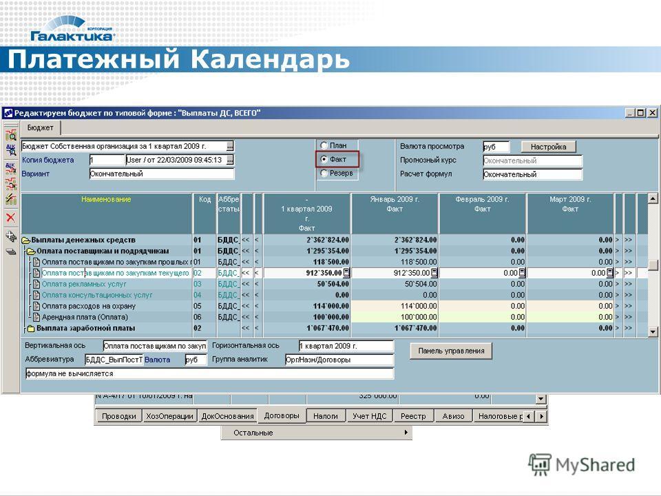 Платежный Календарь