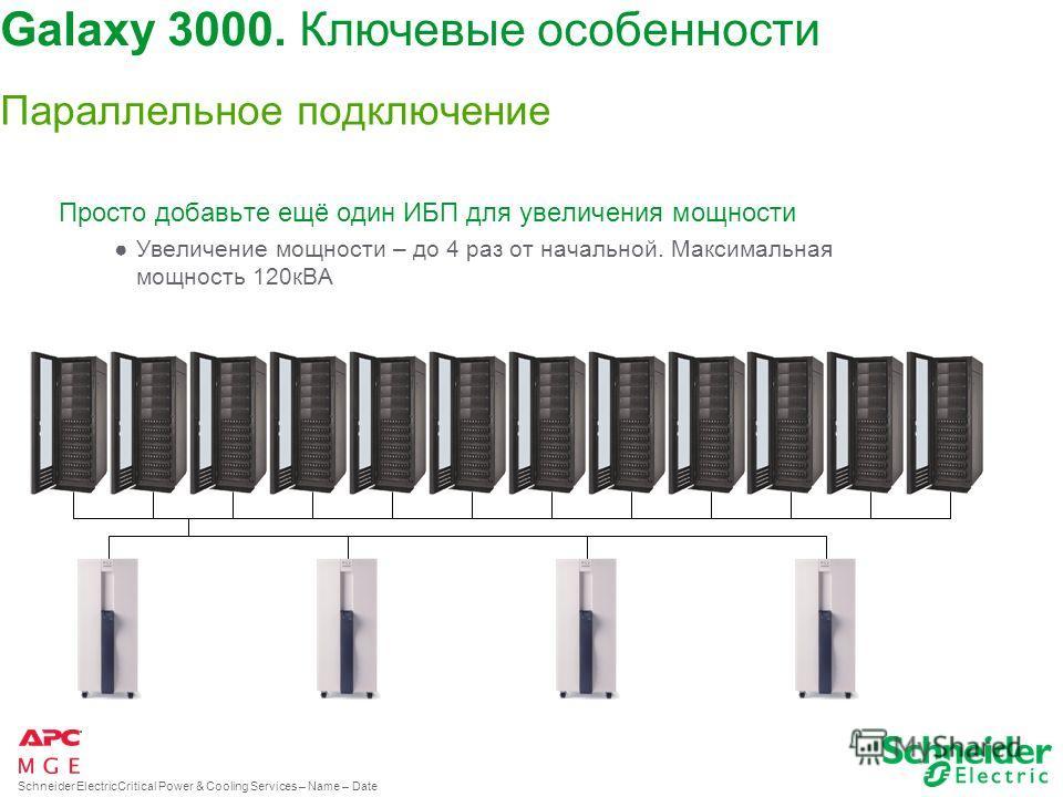 Schneider ElectricCritical Power & Cooling Services – Name – Date Дизайн 4 варианта цветового решения ИБП Графический русскоязычный дисплей Galaxy 3000. Ключевые особенности