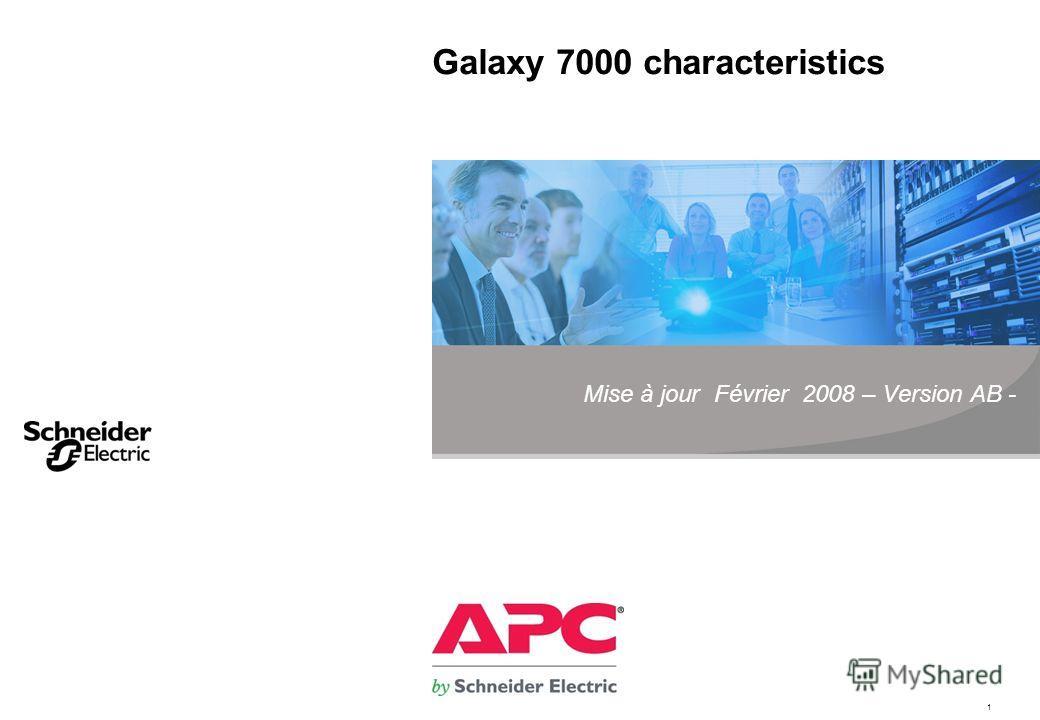1 Galaxy 7000 characteristics Mise à jour Février 2008 – Version AB -