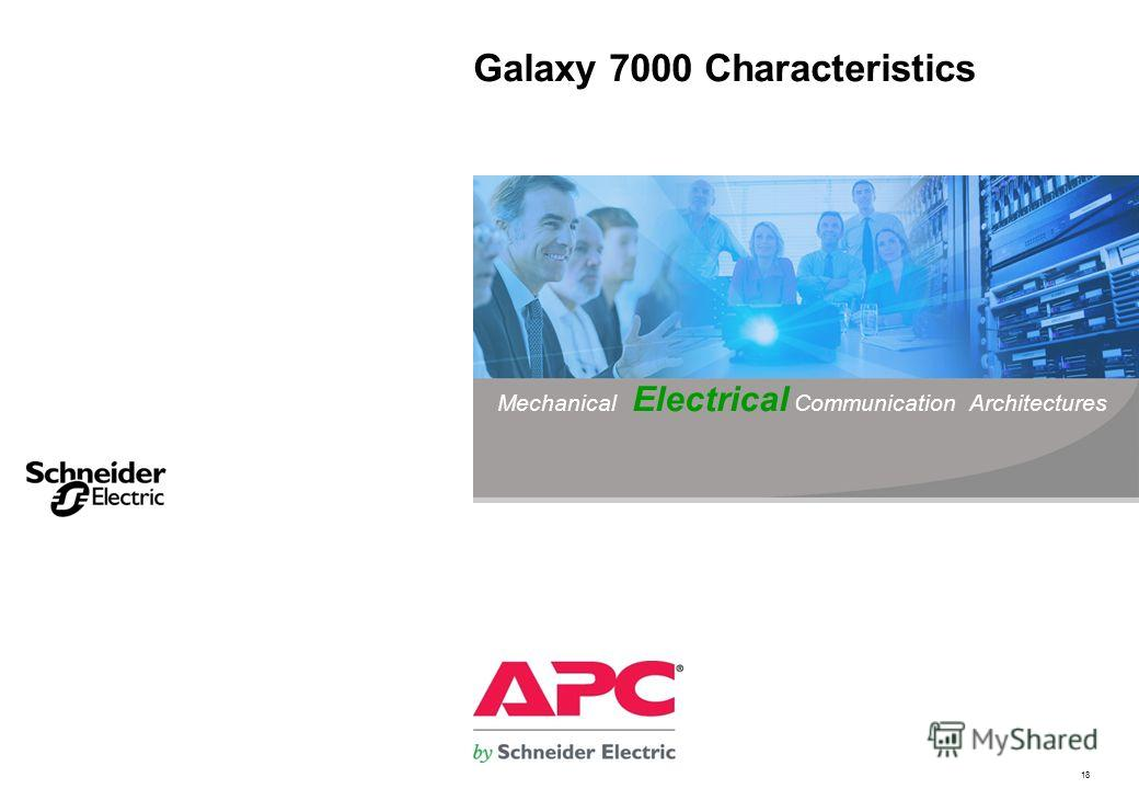 18 Galaxy 7000 Characteristics Mechanical Electrical Communication Architectures