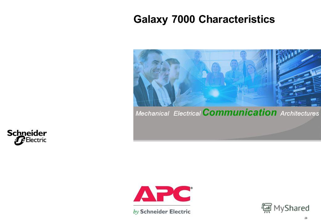 29 Galaxy 7000 Characteristics Mechanical Electrical Communication Architectures