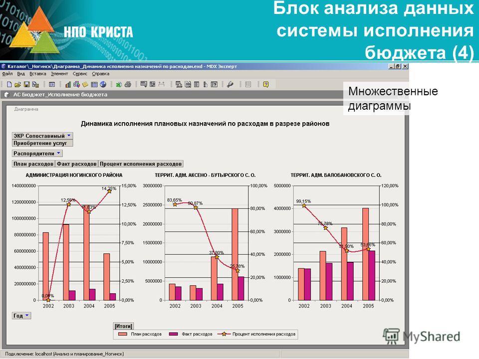Блок анализа данных системы исполнения бюджета (4) Множественные диаграммы