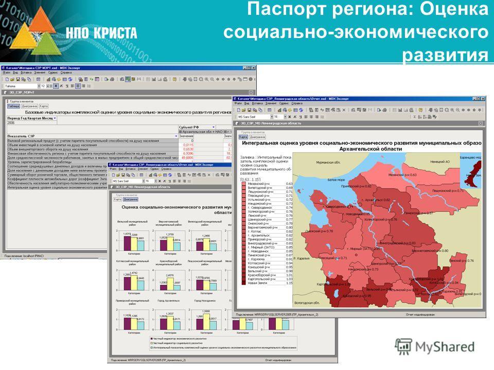 Паспорт региона: Оценка социально-экономического развития