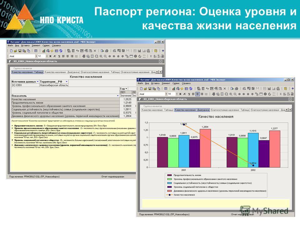 Паспорт региона: Оценка уровня и качества жизни населения