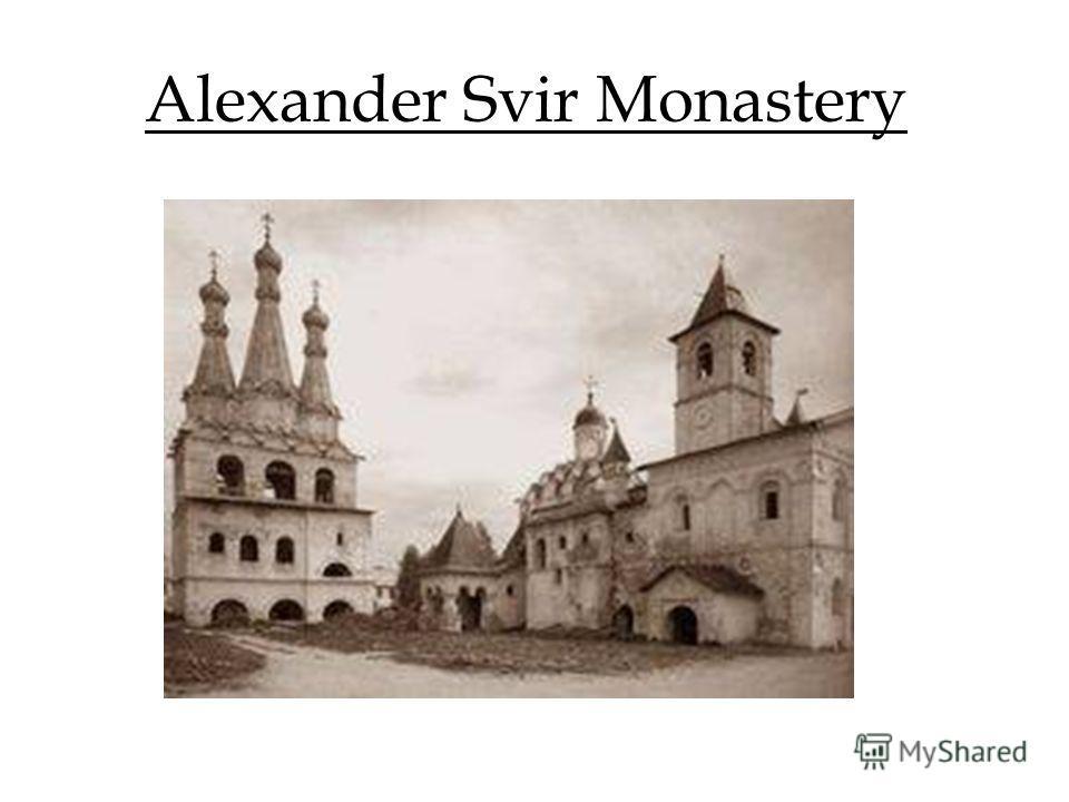 Alexander Svir Monastery