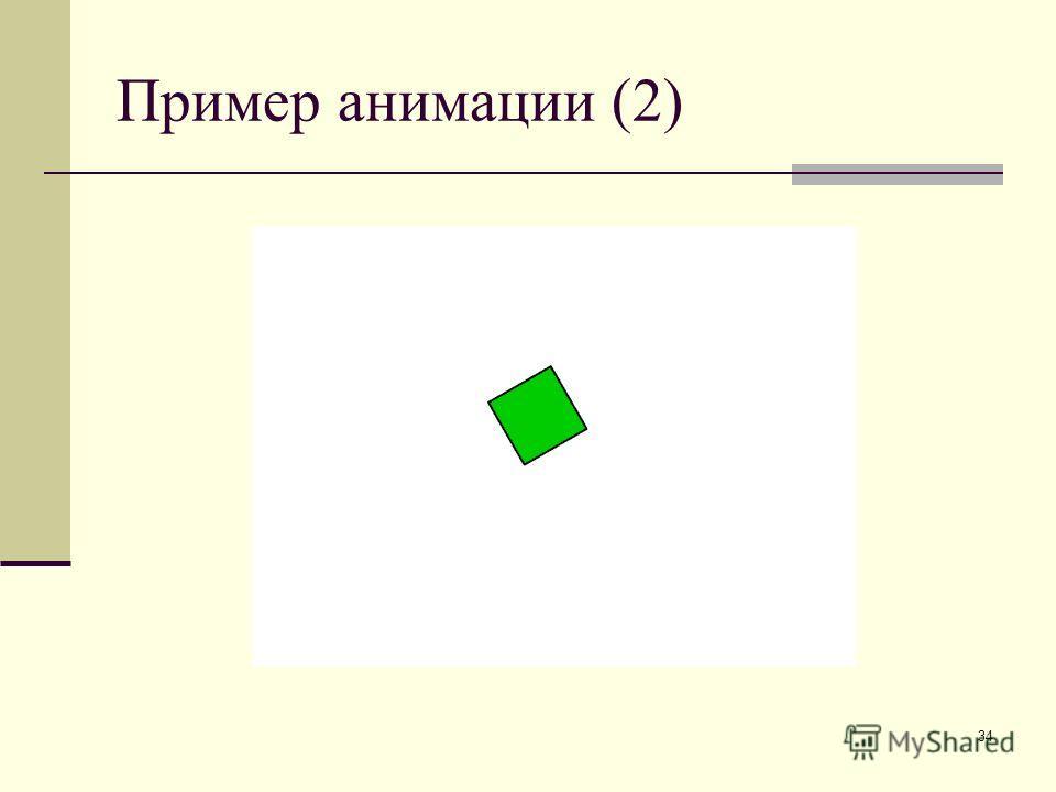34 Пример анимации (2)