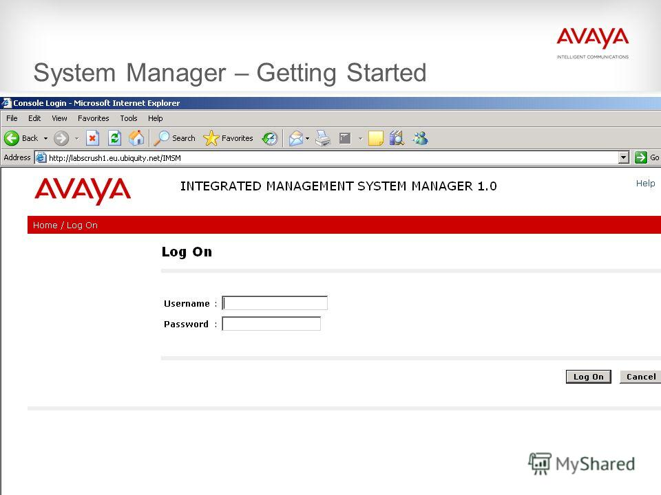 © 2009 Avaya Inc. All rights reserved. System Manager – Getting Started