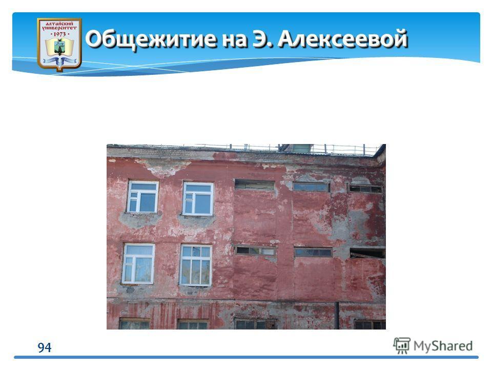 94 Общежитие на Э. Алексеевой