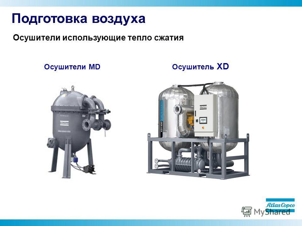 Осушитель XD Осушители MD Подготовка воздуха Осушители использующие тепло сжатия