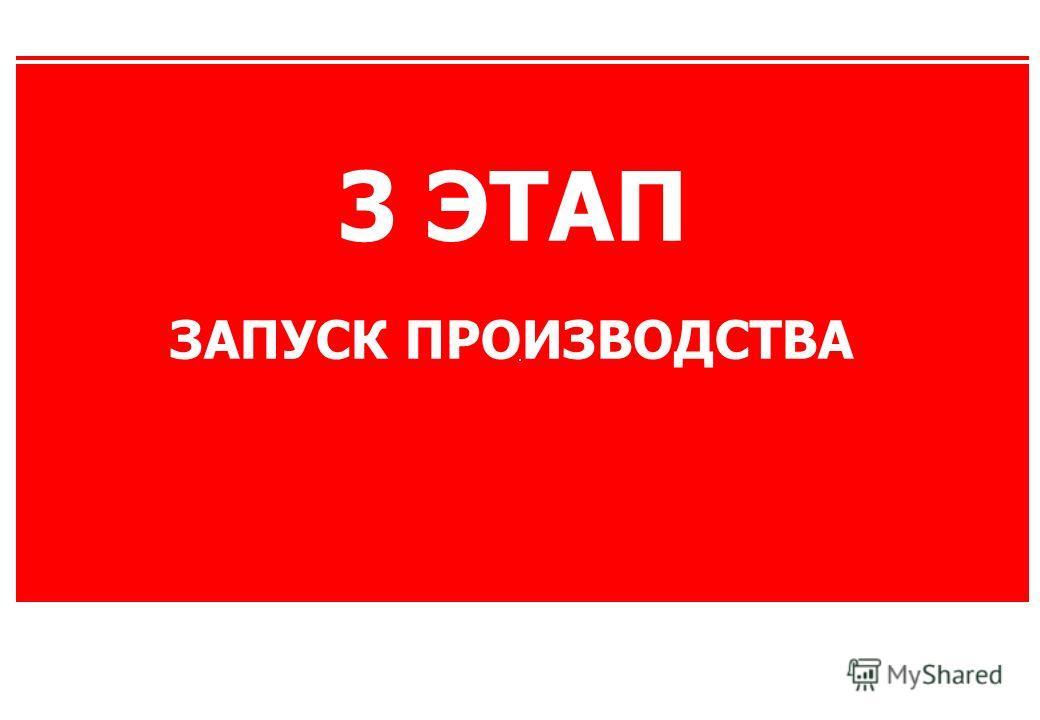 3 ЭТАП ЗАПУСК ПРОИЗВОДСТВА