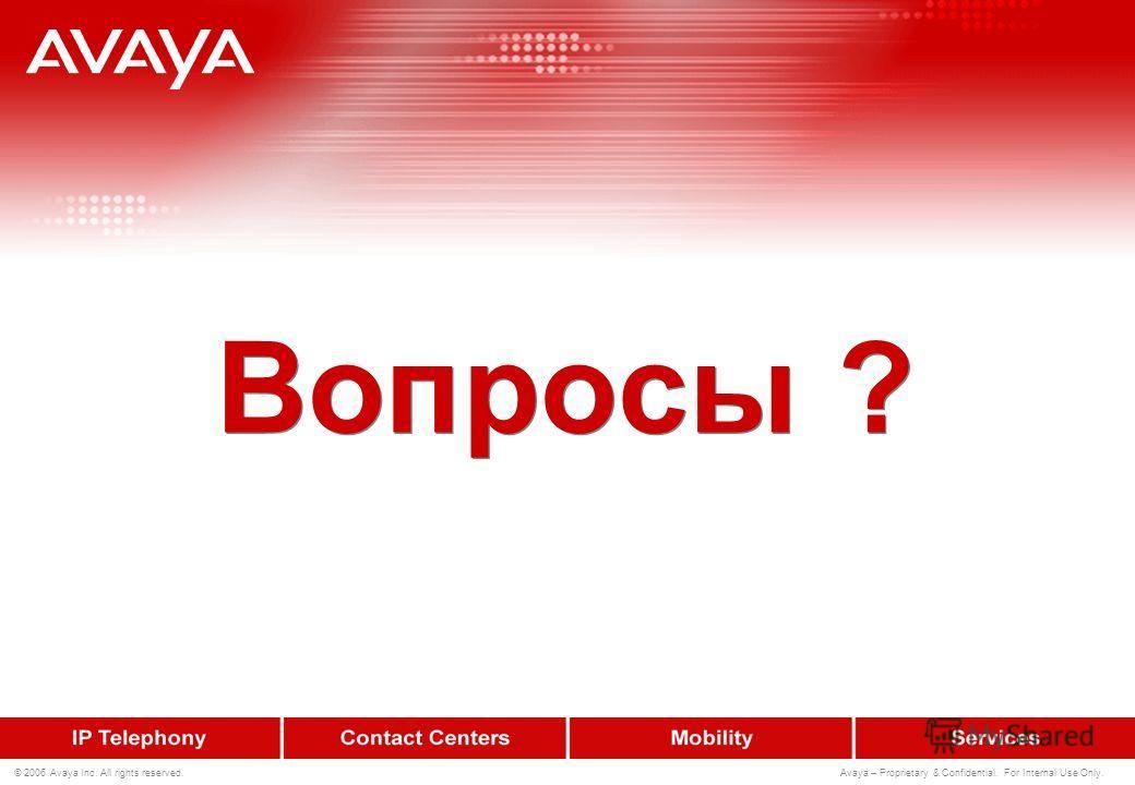 101 © 2006 Avaya Inc. All rights reserved. Avaya – Proprietary & Confidential. For Internal Use Only. Создание всплывающих окон для IP Agent
