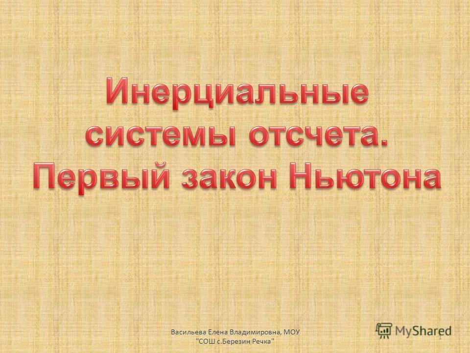 Васильева Елена Владимировна, МОУ СОШ с.Березин Речка 1