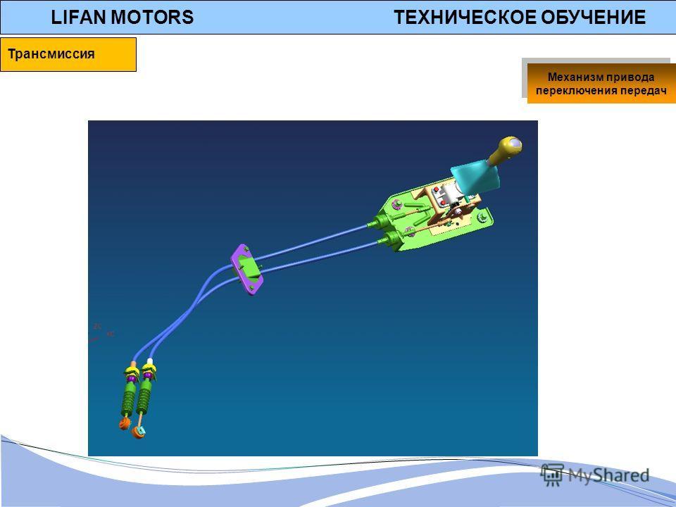 LIFAN MOTORS ТЕХНИЧЕСКОЕ ОБУЧЕНИЕ Механизм привода переключения передач Трансмиссия