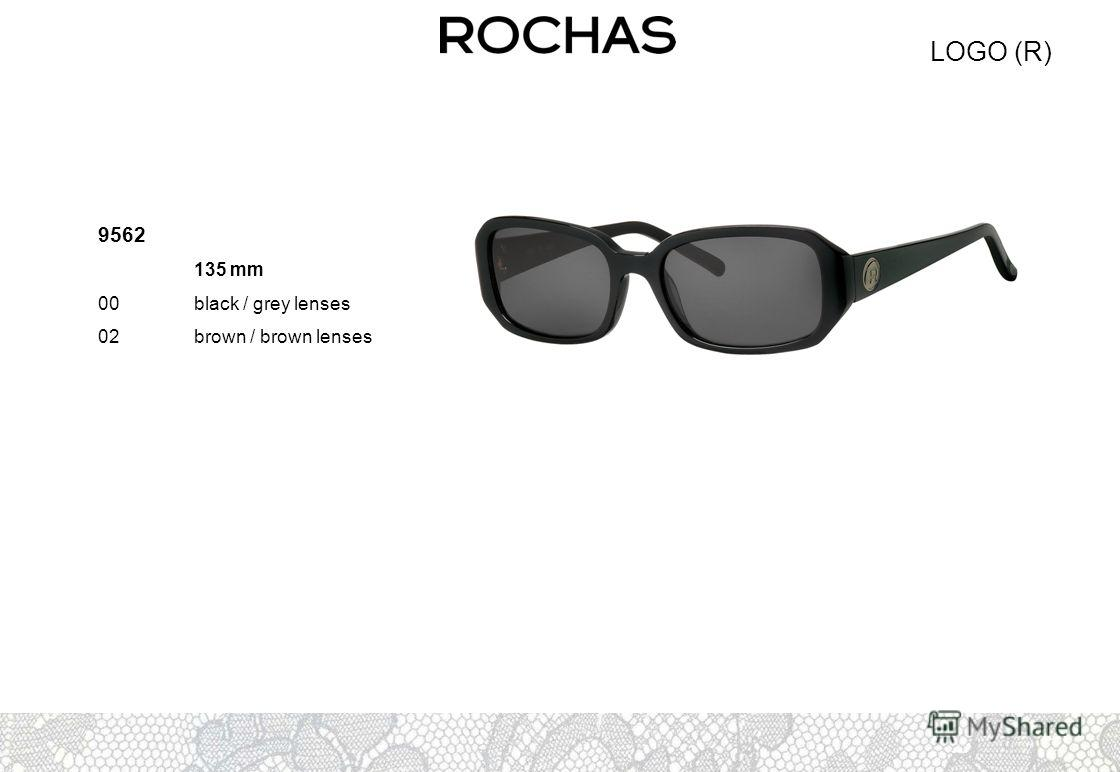 LOGO (R) 9562 135 mm 00black / grey lenses 02brown / brown lenses