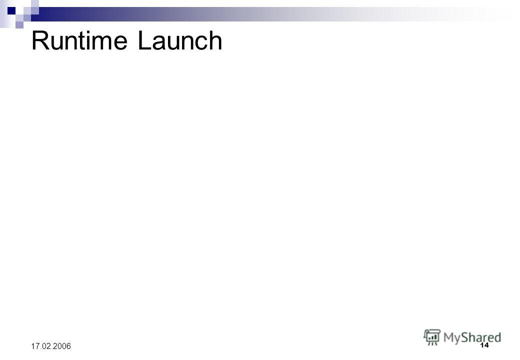 14 17.02.2006 Runtime Launch