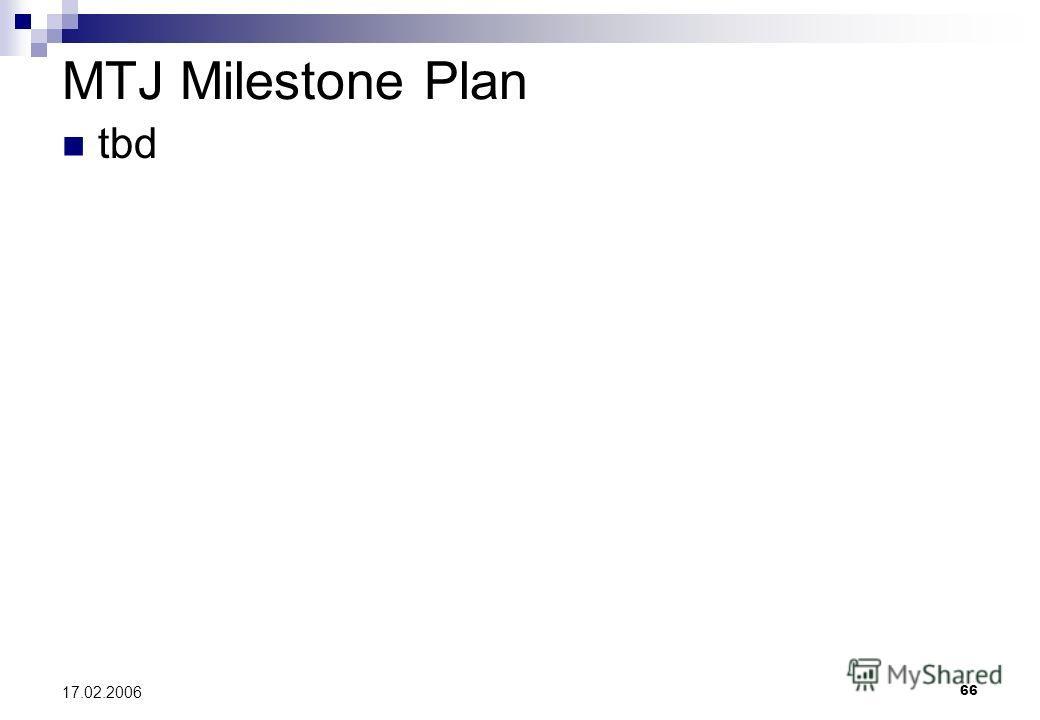 66 17.02.2006 MTJ Milestone Plan tbd
