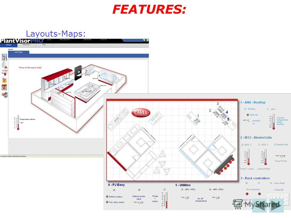 Layouts-Maps: FEATURES: