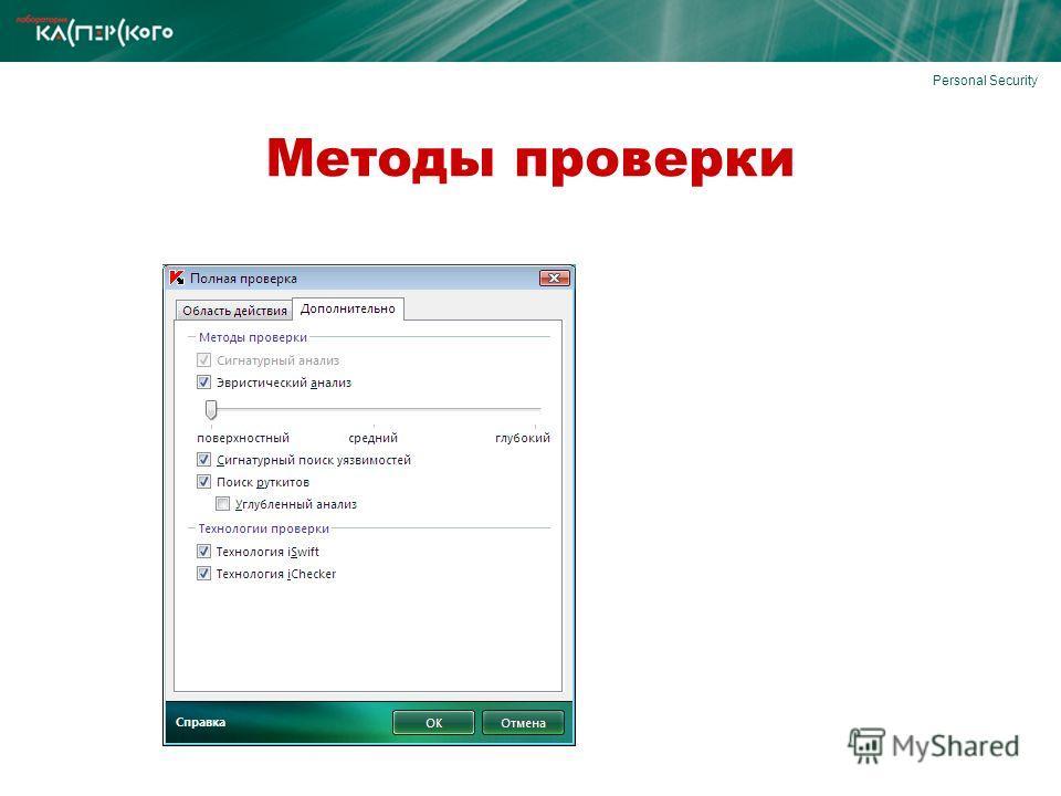Personal Security Методы проверки