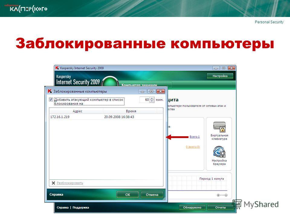 Personal Security Заблокированные компьютеры