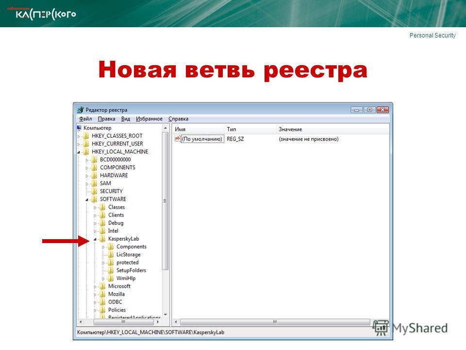 Personal Security Новая ветвь реестра