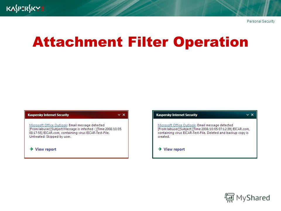 Attachment Filter Operation Personal Security