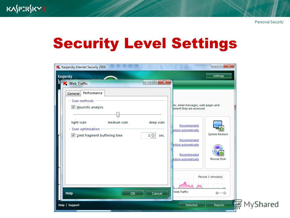Security Level Settings Personal Security