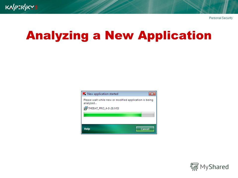 Analyzing a New Application Personal Security